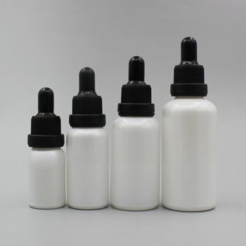 Glass Dropper Bottle 50ml Pearl White Container,Essential Oil Packaging