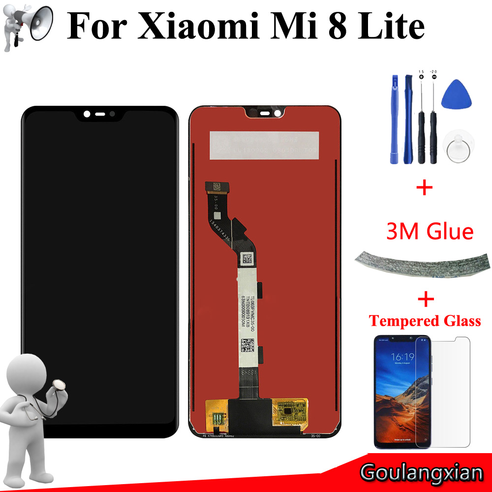 6.26'' AAA Original LCD For <font><b>Xiaomi</b></font> <font><b>Mi</b></font> <font><b>8</b></font> Lite LCD <font><b>Display</b></font> Touch Screen Digitizer Assembly For <font><b>Mi</b></font> <font><b>8</b></font> Youth / <font><b>Mi</b></font> 8X LCD image