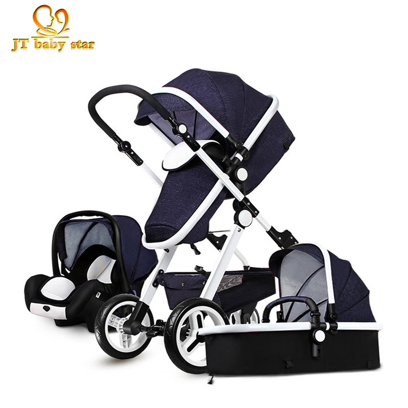 Free Ship! 3 in 1 baby strollers light baby car sleeping basket newborn baby carriage 0~36 months Europe baby pram carriage  free 3 in 1 baby strollers light baby car sleeping basket newborn baby carriage 0 36 months europe baby pram carriage five color