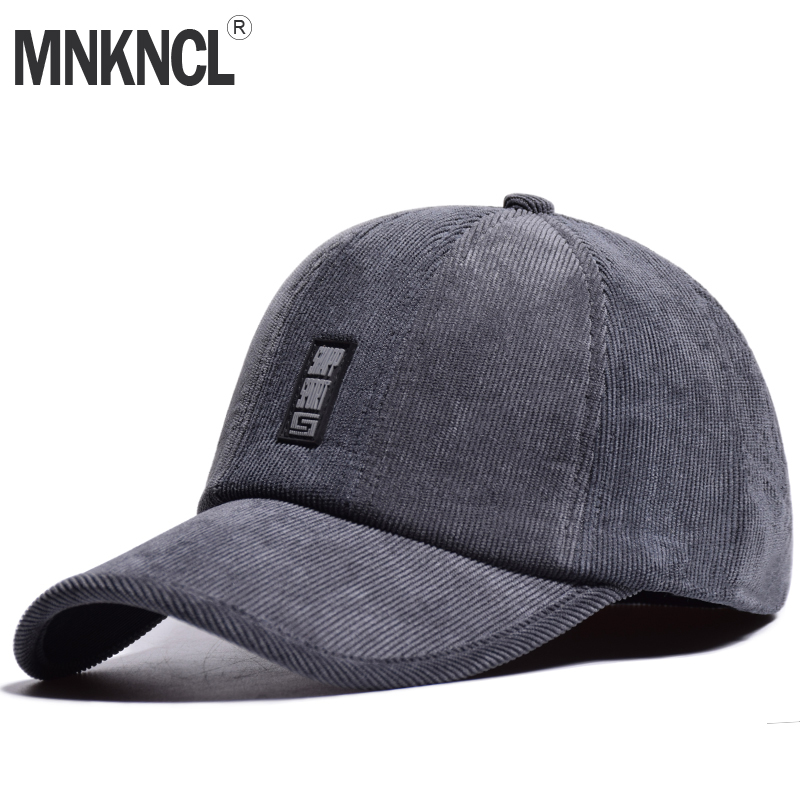 MNKNCL High Quality Men Winter   Baseball     Cap   Women Snapback Hat Solid Dad Hat Wool Bone Trucker   Caps