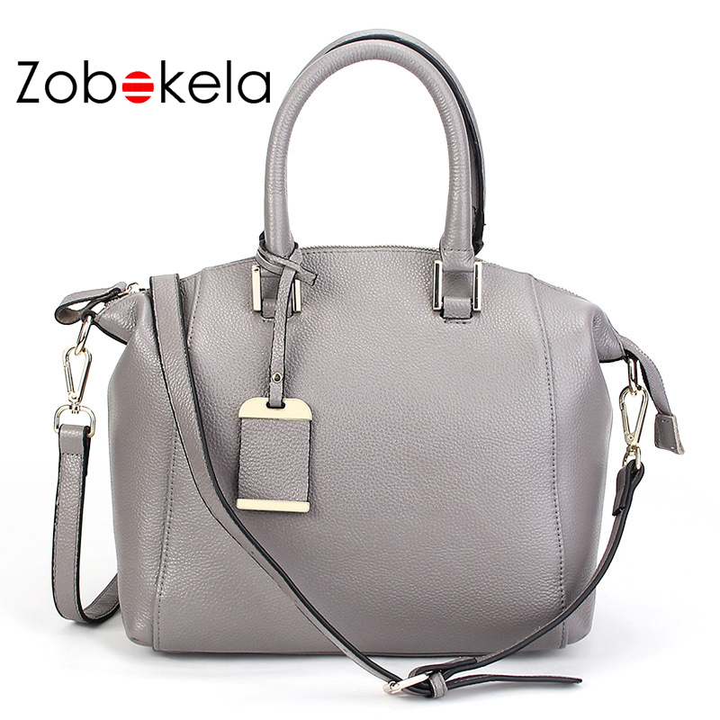 ZOBOKELA Women Bag Boston luxury Genuine Leather Bag female Handbags Women Messenger Bags famous brands designer bolsas shoulder zobokela genuine leather women bag handbags designer women messenger bags leather shoulder bag handbag ladies bag women
