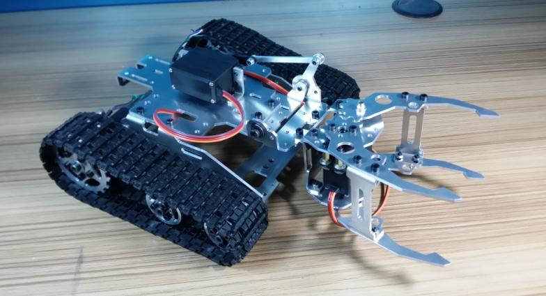 Alloy Tank Chassis , Tractor Crawler Intelligent Robot Car Obstacle Avoidance barrowland diy rc toy remote control wenhsin diy metal structure tank chassis tracked robot car obstacle avoidance