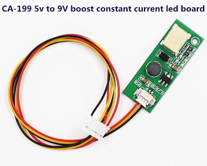 100pcs CA-199 5V to 9V boost constant current board LED go-up voltage univeral one lamp inverter board for laptop notebook car