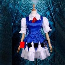 Платье Touhou Project cirno, костюм для косплея, идеально подходит для вас!