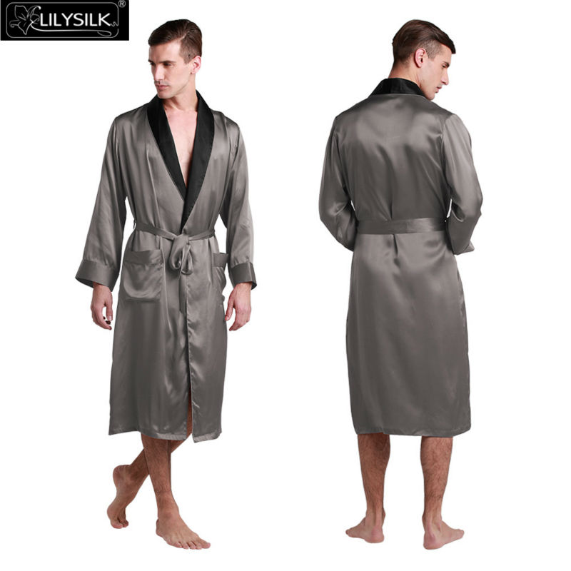1000-dark-gray-22-momme-black-collar-silk-dressing-gown
