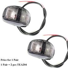 1 пара AOHEWEI 12 24 в светодиодный Белый Передний боковой маркер световой индикатор знак положение светодиодный освещение широкая лампа задний фонарь трейлер свет