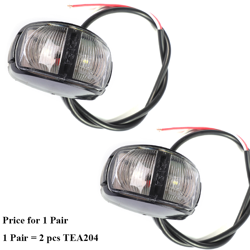 Image 1 - 1 Pair AOHEWEI 12 24V LED white front side marker light indicator sign position led light  width lamp  tail light trailer light-in Truck Light System from Automobiles & Motorcycles