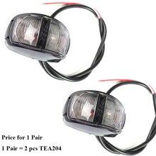1 par AOHEWEI 12 24 V front side marcador de luz LED branco largura lâmpada de sinal indicador de posição levou luz luz da cauda do reboque luz
