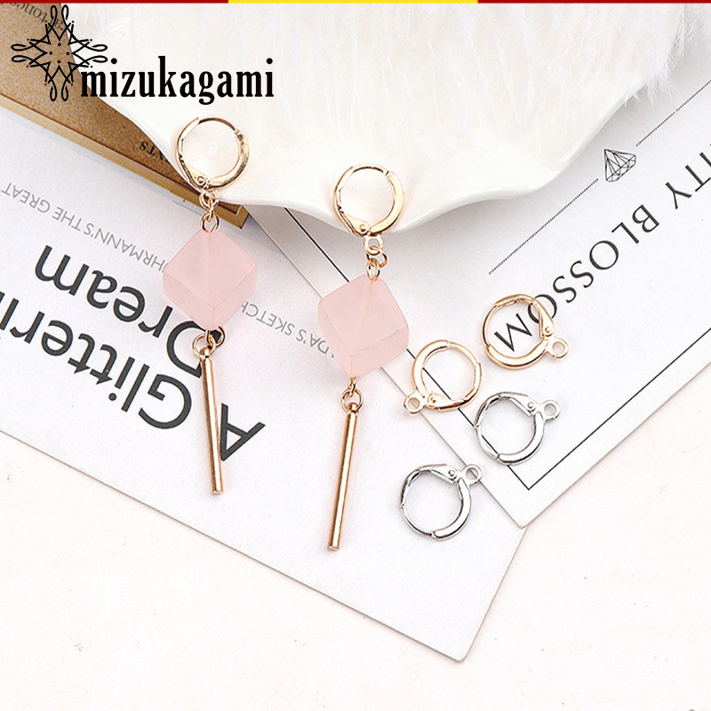 2018 New 10pcs/lot Gold Silver Copper Metal Circle Ring Charms Handmade Ear Charms For DIY Earrings Making Accessories