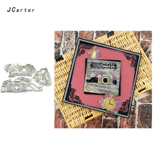 JCarter Camera Shape Metal Cutting Dies for Scrapbooking DIY Album Embossing Folder Cards Paper Photo Maker Template Stencil