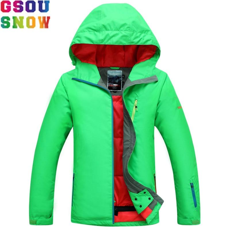 GSOU SNOW Ski Jacket Women Winter Waterproof Jacket Ladies Professional Skiing Snowboarding jackets Breathable Bright Color 2017