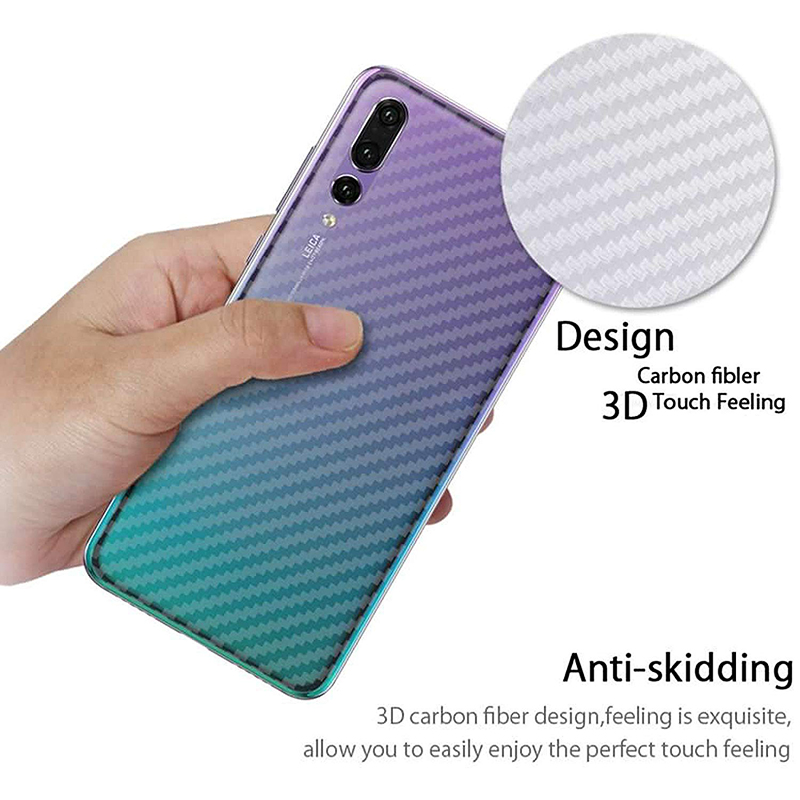 Suntaiho 3D Carbon Fiber Rear Screen Protector for Huawei nova3i P20 mate10 Pro Honor 10 note10 Back Cover Protective Guard Film