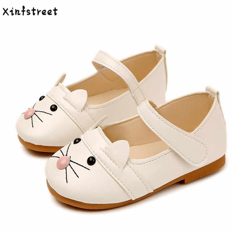 Baby Girls Shoes Cat Cute Little Kids