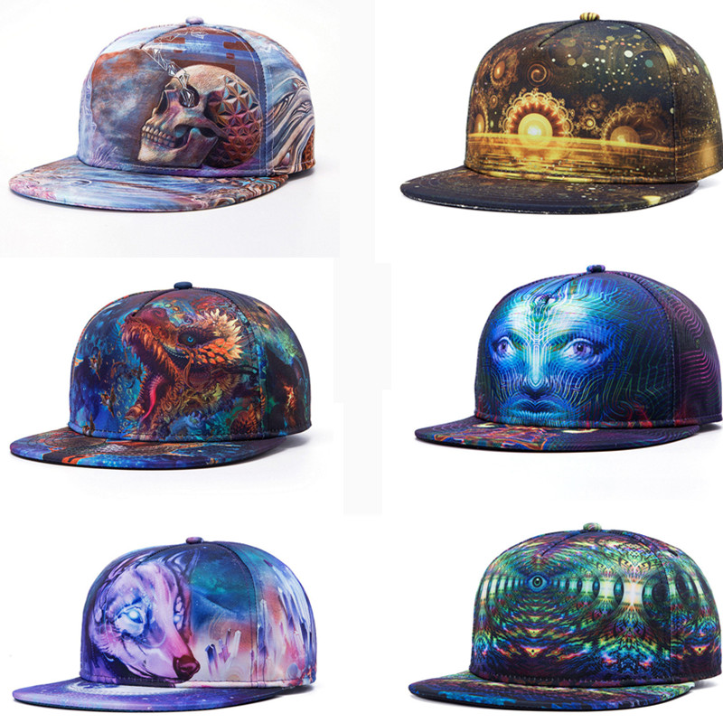 print Snapback Baseball Caps for Men's Women's cap with straight visor caps Male Hip hop gorras hombre mujer casquette hat style цена и фото