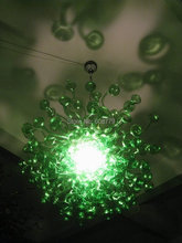 лучшая цена Free Shipping Pure Green Crystal Modern Chinese Chandeliers