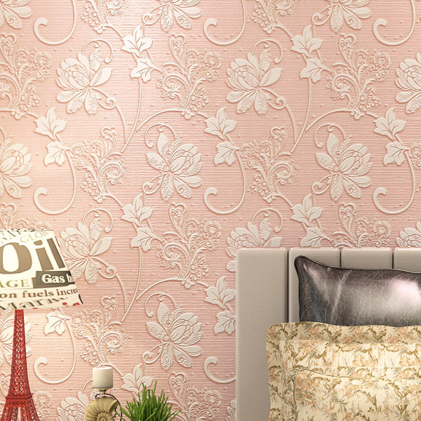 1M Home Improvement Wall Paper European Self-adhesive Fashion 3D Non-woven Luxury Wallpaper Rolls for Bedroom Industrial Decor