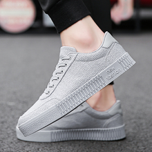 2018 New Social Young Man Small Red Shoes Mens Fashion Breathable Linen Cloth All Black Work Korean Leisure 4