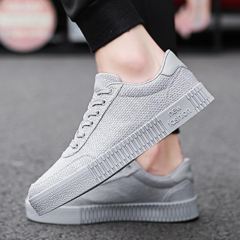 2018 Neue Social Junge Mann Kleine Rote Schuhe Herrenmode Atmungsaktiv Leinen Tuch Schuhe Alle Schwarz Arbeits Red Koreanische Freizeit Schuhe 4