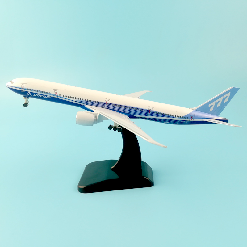 20CM BOEING 777 METAL ALLOY MODEL PLANE AIRCRAFT MODEL TOY WHEELS AIRPLANE BIRTHDAY GIFT COLLECTION DESK TOY стоимость