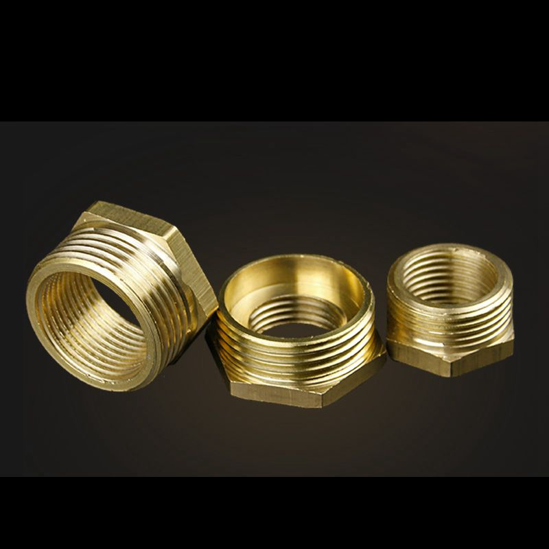 Quot to bsp thread brass bushing fill copper core