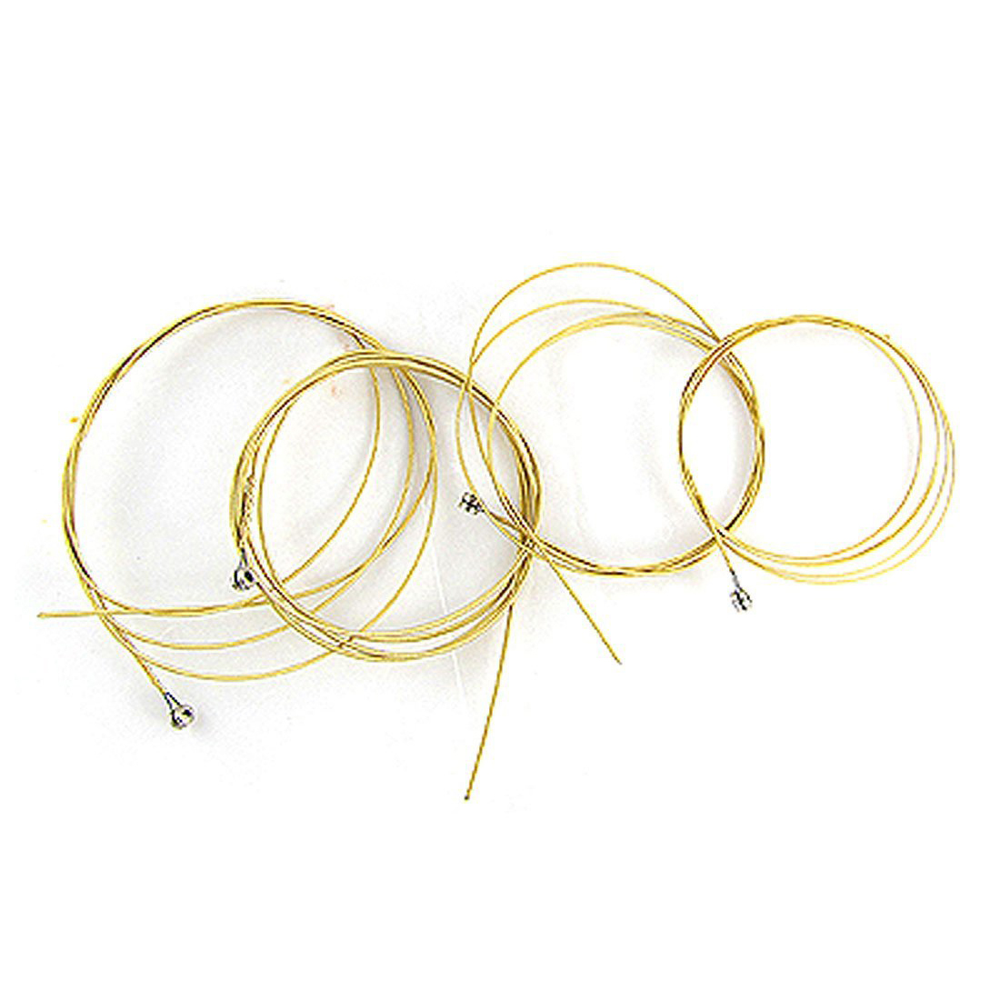 6 Pcs Steel Strings Replacement for Acoustic Guitar New Silver+Brass