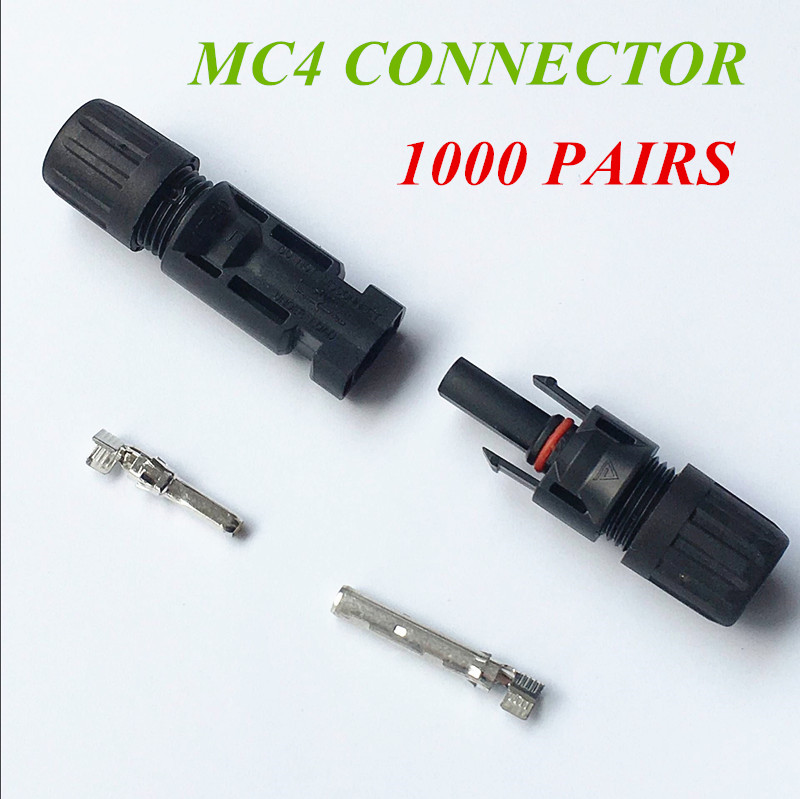 Free Shipping !! 1000 Pairs MC4 Connector Male/ Female Safety Seal Ring Waterproof Solar Panel Cable Connectors 25 years quality warranty 2pairs tuv ip67 mc4 connector solar cell pv connector free shipping
