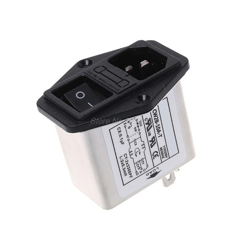 CW2B-10A-T EMI сетевой фильтр однофазный разъем линии-Кондиционер переменного тока 115/250 В MAR18 Прямая поставка