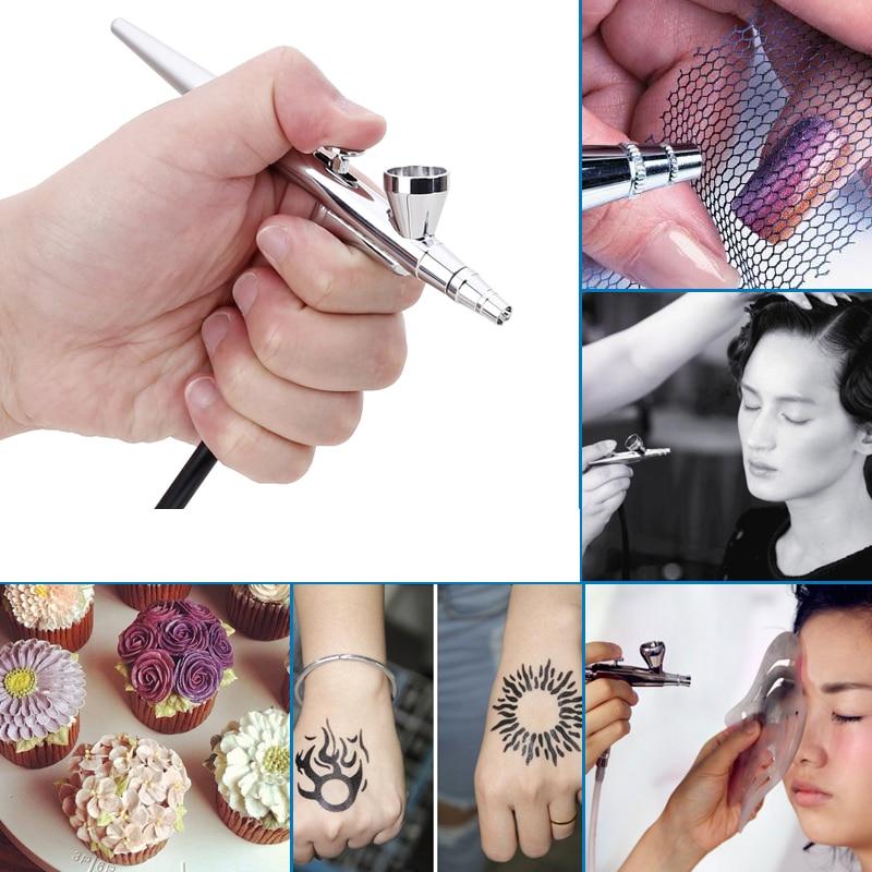 AirBrush&FREE SHIPPING Airbrush Gun 0.4mm Needle Tattoo Art Set Body Paint,Airbrush kit With Compressor Makeup Craft Toy