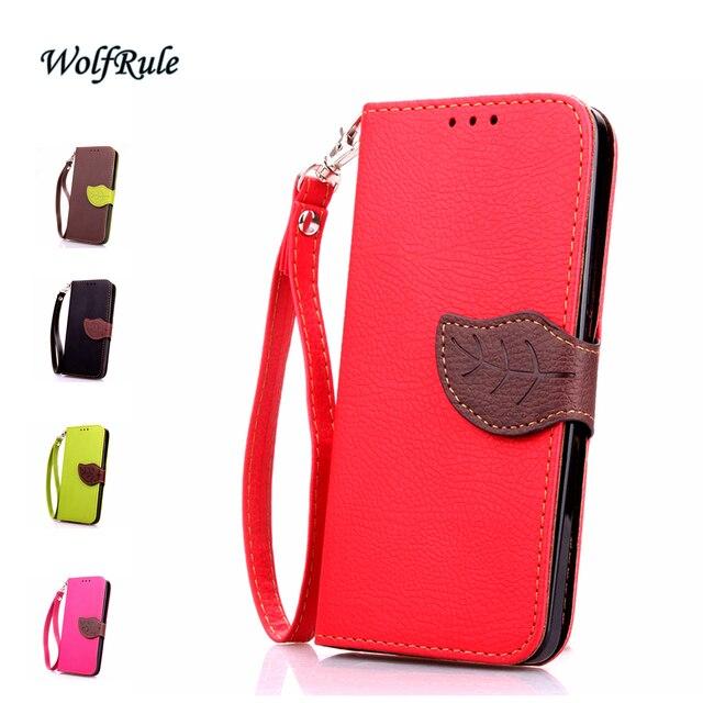 WolfRule Leaf Case For Sony Xperia Z1 Compact Cover Luxury Women's Flip PU Leather & TPU Handbag For Sony Xperia Z1 Compact Case