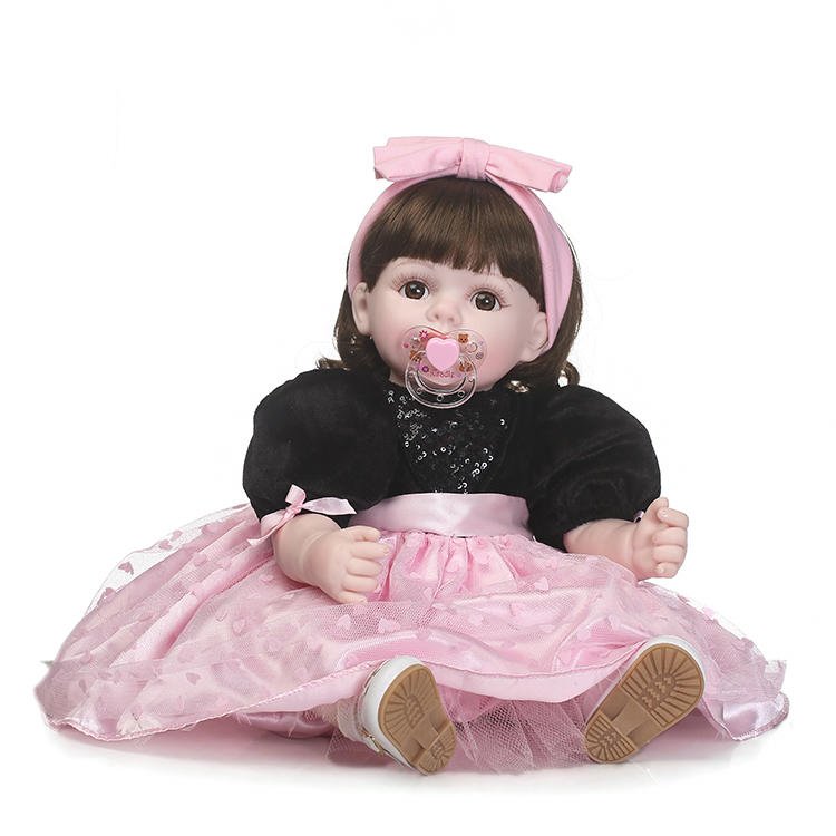 NPKCOLLECTION simulation reborn doll soft real gentle doll hot sale doll for children's Gift with beautiful clothes and wig hair very beautiful doll long wig hair doll hot selling present for children