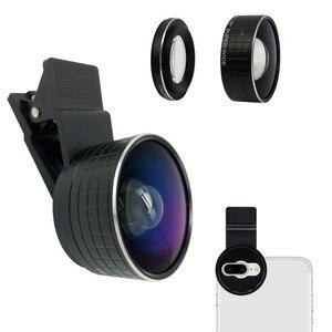 Image 1 - 2 ใน 1 กล้องเลนส์มาโคร 20X Macro เลนส์กล้องโทรศัพท์มือถือ HD 128 องศาเลนส์สำหรับ iPhone X 8 7 Plus