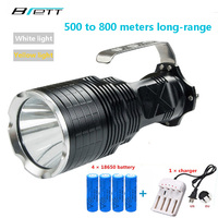 Hunting High Power LED Flashlight 18650 Battery CREE L2 Yellow White 2 Color Optional Outdoor Lighting