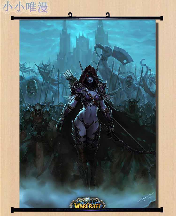 Game WOW Kel/'Thuzad World Of Warcraft Silk poster wallpaper 24 X 13 inches