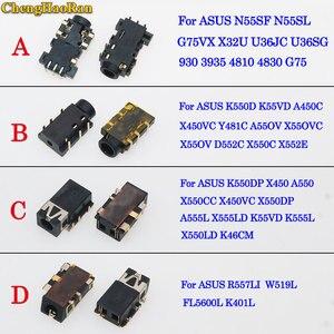 ChengHaoRan Notebook Laptop Audio Headphone Microphone Jack Socket for Asus N55SF U36JC U36SG X450VC X552E X450 A550 K401L W519L(China)