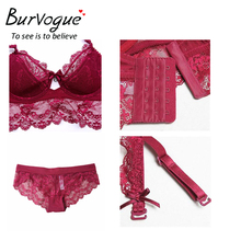 New Women Sexy Lace Lingerie Push Up Bra Set