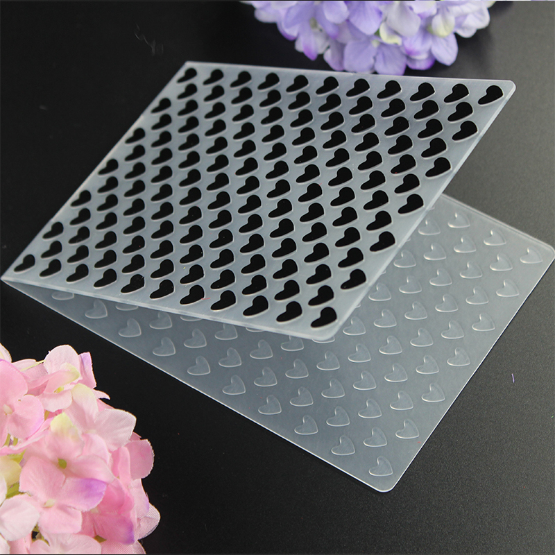 Lovely Heart embossing folder plastic dies scrapbook stencils for diy paper card making craft envelop decor gift packing envelop
