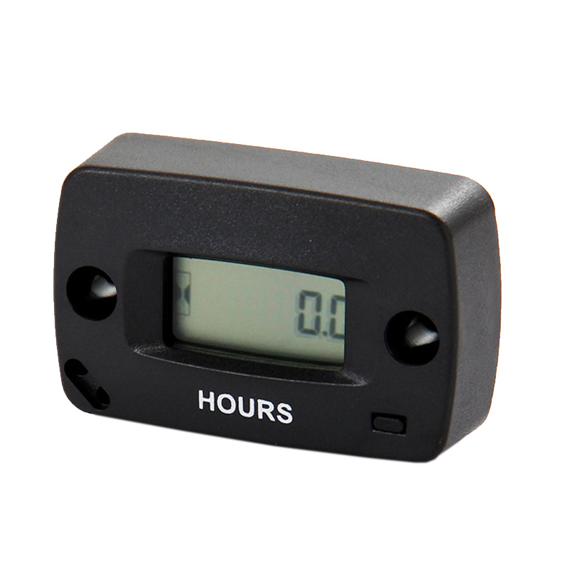 Inductive Gasoline Engine Digital Resettable Hour Meter Maintenance Reminders Counter Meter For Any Petrol Engine 2/4 Stroke