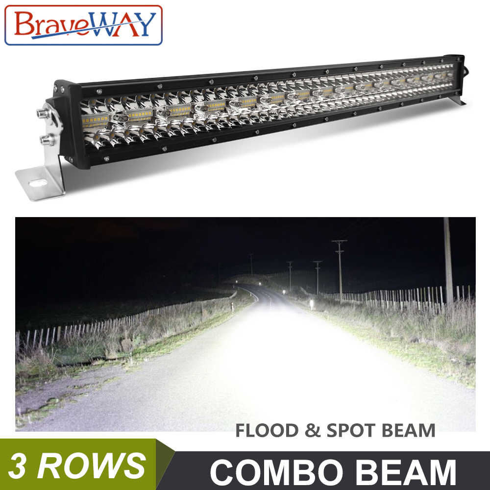 BraveWay LED Light Bar Work Light for Off Road Tractor SAND RAILS Truck ATV SUV 4WD UAZ 4x4 Driving Light 12 V