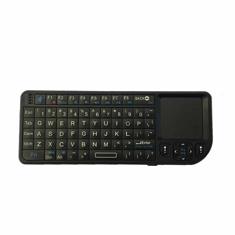 100BT Ultra Mini Wireless Keyboard Bluetooth English Air Mouse Remote Control Touchpad For Android TV Box PAD MINI PC hot sale portable wireless bluetooth keyboard for cube iwork8 air ultra thin abs keyboard for iwork8 ultimate 8inch tablet pc