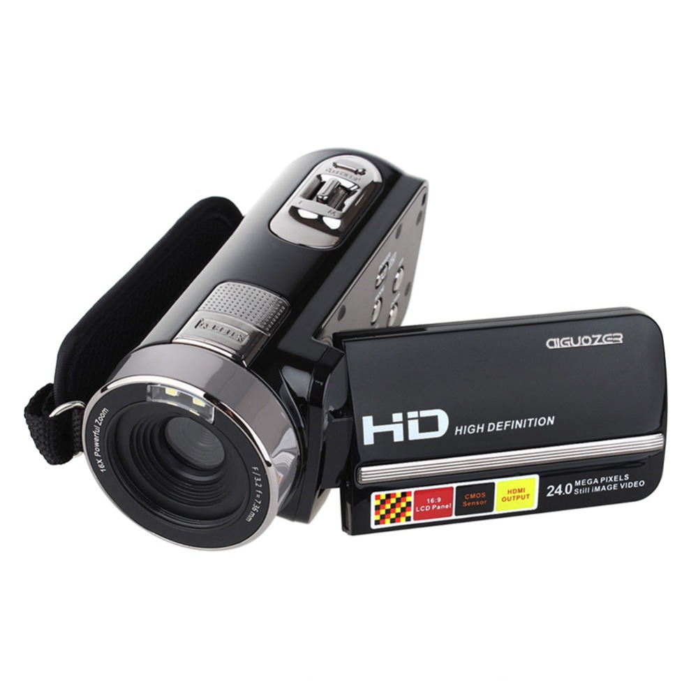 Newest HDV-301STR Video Cameras 1080P Full HD 24MP Mini Camcorder 3.0 Rotatable TFT LCD IR Night-Shot Digital Video Camera
