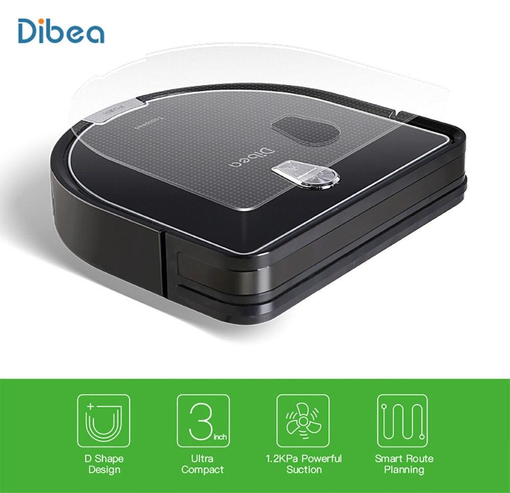 Dibea D960 Robot aspirateur intelligent avec aspirateur Robot de nettoyage humide avec technologie de nettoyage des bords pour les tapis minces de poils d'animaux