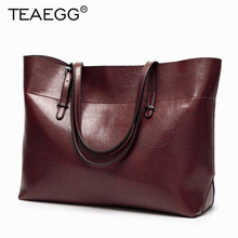 TEAEGG Luxury Brand Women Shoulder Bag Soft Leather