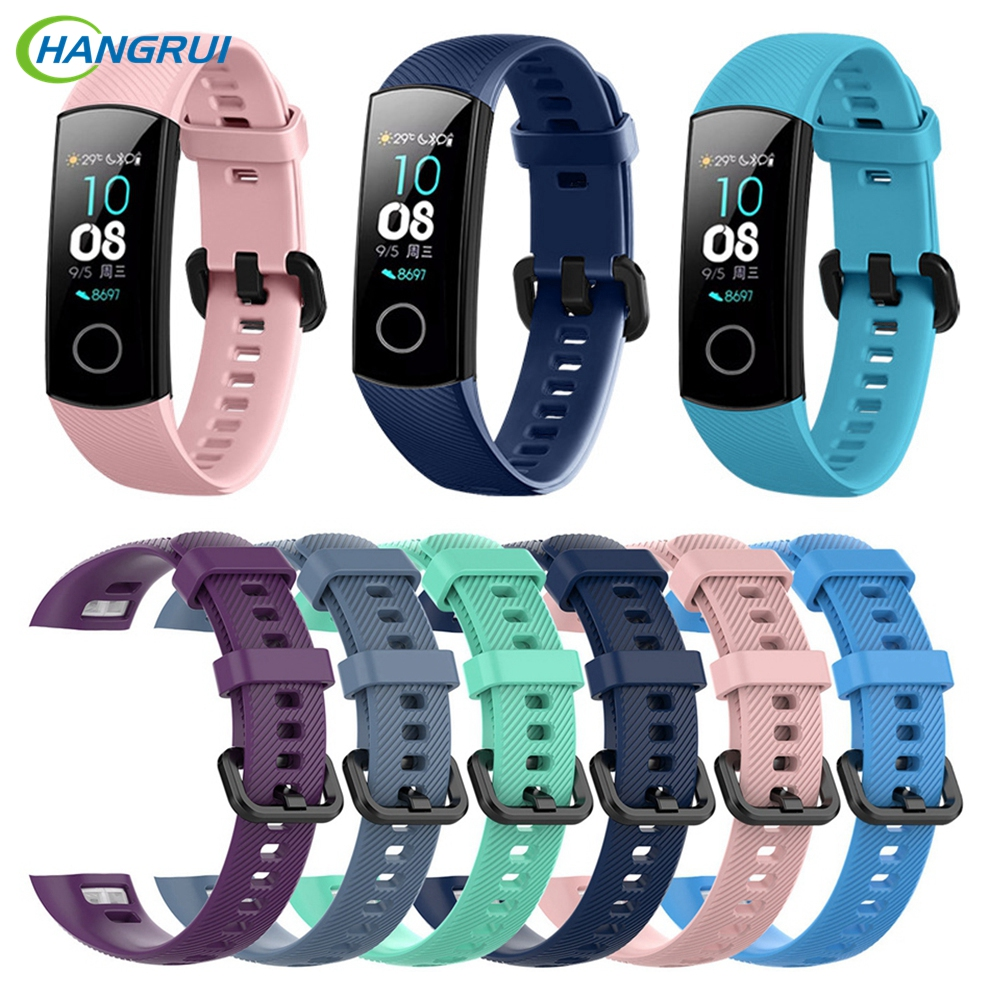 Hangrui Silicone TPU Wristband For Huawei Honor Band 4 Strap Smart Sport Bracelet Strap For Huawei Honor Band 4 Standard Version