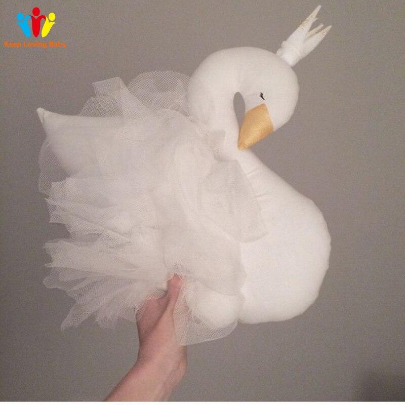 coroa cisne gaze almofada travesseiro bebe acompanhar 05