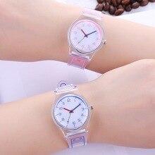 שקוף שעון סיליקון לצפות נשים ספורט מקרית קוורץ שעוני יד חידוש קריסטל גבירותיי שעונים קריקטורה Reloj Mujer 2018