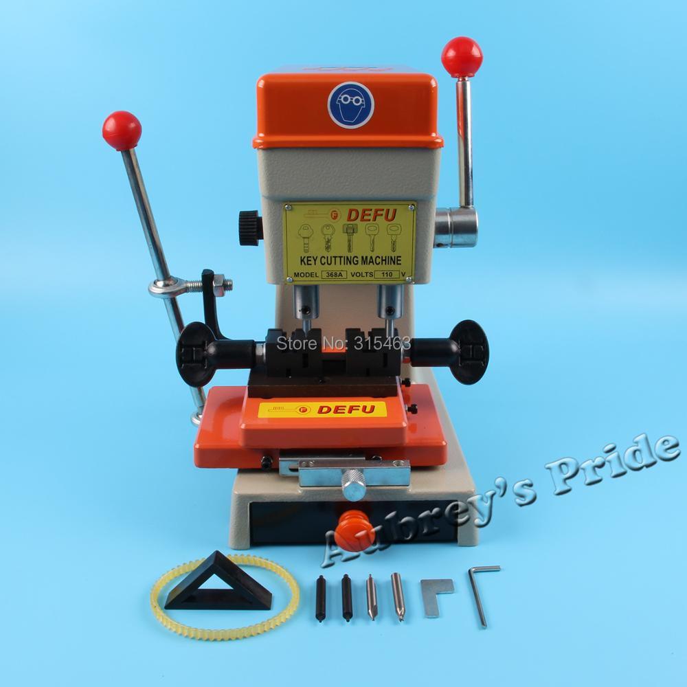 Free Shipping 368A Vertical Car Household Key Copy Cutting Dulplicated Machine Locksmith Picking variety plug type