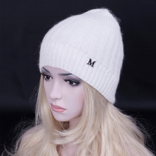 2016 Fashion zipper design wool Beanies hat for women High quality wool rabbit hair blended Knitted cap Skullies snow caps