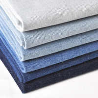 50*151cm Washed Denim Fabrics Pure Cotton Fabric For Trousers T-Shirt Apron DIY Summer Dress Clothing Material For Baby Girls