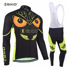 Bxio Eagle Style Cycling Sets Winter Thermal Fleece Pro Bicycle Clothing Multi Color Ropa Ciclismo Outdoor Mtb Bike Jersey 036