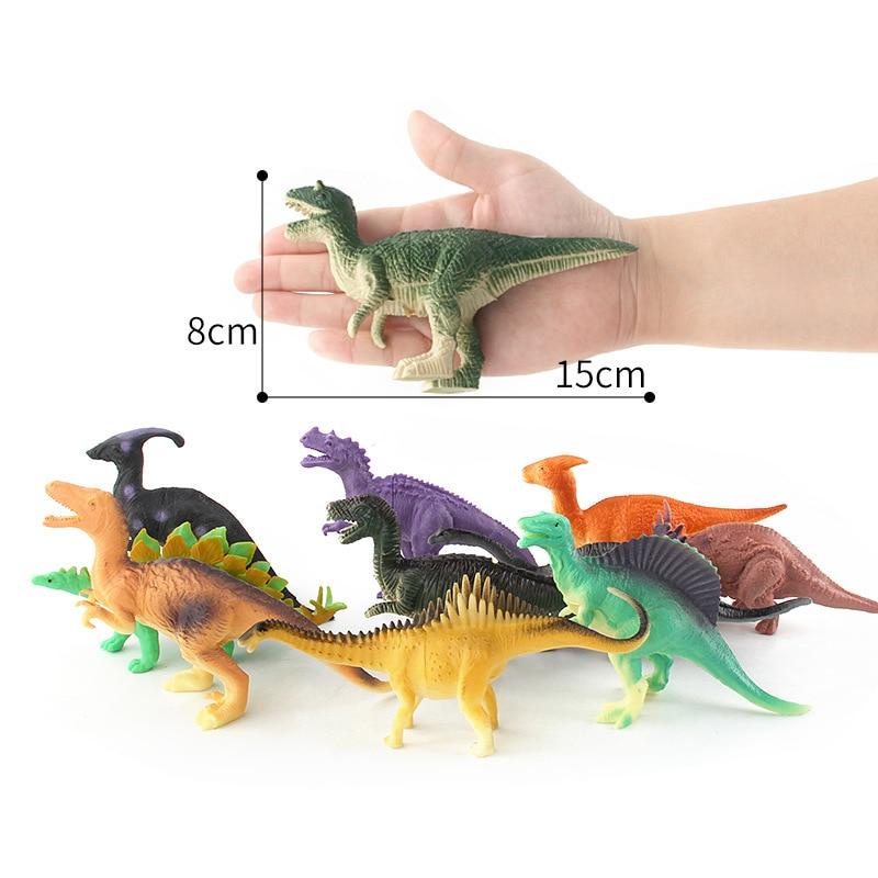 12pcs/lot 8-15cm Dinosaur Plastic Model Fun Toy Action&Figures T-REX DINOSAUR Toys For Children Merry Christmas Gift Baby